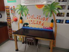 Isolation Island give students a 'fun' place to go to who need separation from distractions (or are causing a distraction and need to be separated). Photo Credit: www.theardentteacher.com