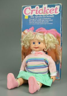 Cricket talking doll- had one of these and loved it. Why does it seem so creepy now?