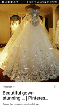 Cheap Substantial 2019 Wedding Dresses Sparkly Rhinestone Lace A Line Wedding Dresses, 2019 Luxurious Long Custom Wedding Gowns, Affordable Bridal Dresses, 17111 I belong to the more is better school of thought! Photo by LightInTheBox Brand:JUEXIU Bridal Most Beautiful Wedding Dresses, Elegant Wedding Dress, Dream Wedding Dresses, Beautiful Gowns, Bridal Dresses, Prom Dresses, Bridesmaid Dresses, Wedding Dresses With Bling, Bling Dress