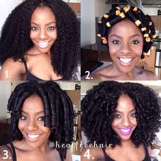 Perm rod set and styled.