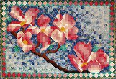 Quilt Pattern  PDF  Dogwood Mosaic Quilt Pattern  by JaneLKakaley, $10.00