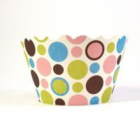 Cupcake wrappers - Dorothy- Polkadots Includes 12 ADJUSTABLE
