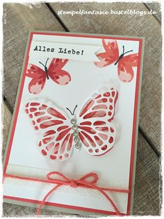 Stampin Up_Watercolor Wings_Karte_Card_Butterfly_Schmetterling_Glitzerklebeband_Saleabration_SAB_2016_Stempelfantasie_1