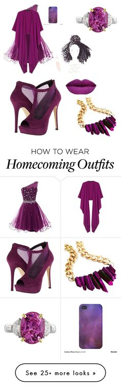 """""""Pretty purple"""" by siscotash on Polyvore featuring Call it SPRING and Talbot Runhof"""