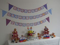 Cake table.  Banner from Vens Paperie