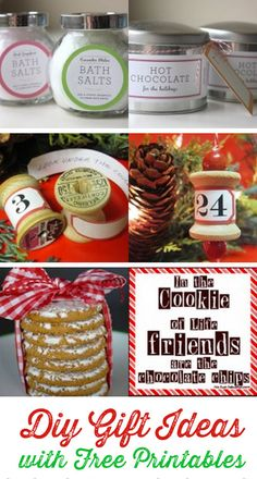 Easy DIY #Christmas Gift Ideas with Free Printables.