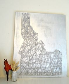 Cool DIY String Art, I think it would make for an awesome house warming gift