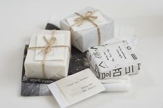 Cutely wrapped soaps