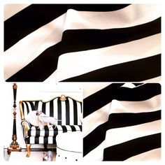 #Black and #white #stripes sold by the yard. Suitable for #pillows, table  Runners, long table cloths, #placemats etc.
