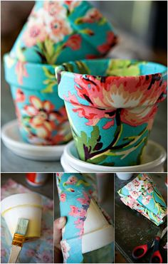 Pretty Terracotta pots DIY