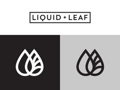 Liquid & Leaf by Mike Jones #Design Popular #Dribbble #shots