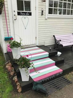Porch Swing, Play Houses, Outdoor Furniture, Outdoor Decor, Yard, Flooring, Crafts, Diy, Painting