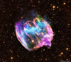 youngest black hole --- NASA may have just uncovered the youngest black hole in Earth's galaxy. The young black hole, located within a supernova remnant, was created by a rare supernova explosion of a massive star, according to a written statement from NASA. The administration's Chandra X-ray Observatory captured images of the so-called remnant W49B, located 26,000 light-years away. Cosmos, Hubble Space Telescope, Space And Astronomy, Nasa Space, Image Formation, Star Formation, Space Photos, Space Images, Deep Space