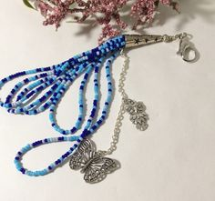 Planner tassel charm. Owl charm.Rear view mirror charm.Planner goodies. Butterfly charm. Beaded tassels. Tassel key chain.Humminbird charm. by LaBellaBottega13 on Etsy