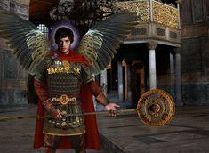 Archangel Michael in Hagia Sophia holding a Flabellum Ripida Istanbul Travel, Medieval World, Hagia Sophia, Archangel Michael, Byzantine, Mystery, Romania, Basel, St Michael