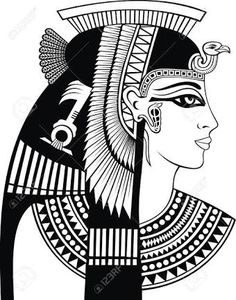 Resultado de imagem para cleopatra drawing