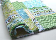 Baby Blanket / Bird blanket / Patchwork Blanket by TextileTrolley, $55.00