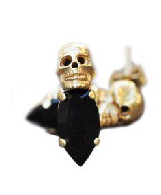 Gold Skull Stud Earrings