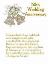 Golden Wedding Anniversary Card Wishes