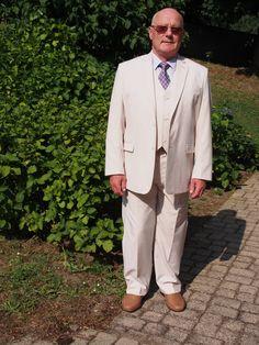Tailor4Less white 3 piece suit review