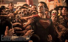 "Henry Cavill returns to reprise his role as Superman from Man of Steel, but this time the point-of-view has shifted. ""I like to think that Man of Steel was the perspective of the world from Clark, Kal-El, looking at the world and trying to exist with in it,"" says Cavill. ""Batman v Superman is definitely more mankind's perspective of Superman."" Image Credit: Clay Enos"