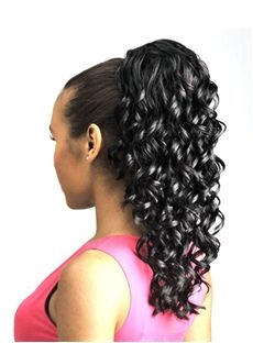 Black Curly Synthetic Hair