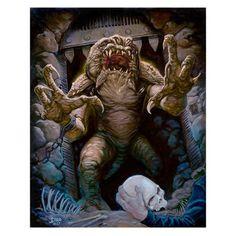 Star Wars Rancor's Demise by Jaime Carrillo Canvas Giclee