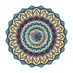 Color floral mandala, vector illustration na obrazach myloview. Najlepszej jakości fototapety, naklejki, obrazy, plakaty. Chcesz ozdobić swój dom? Tylko z myloview!