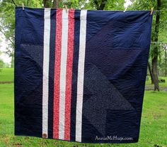 My American Star --the back!  Designed, pieced and longarm quilted by me... Annie McHugs (aka Jerriann Massey)