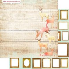 Golden Glow x 2 sheet Websters pages 12x12 Scrapbooking paper Gingerbread