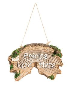 Another great find on #zulily! 'Faries Live Here' Wall Sign #zulilyfinds
