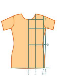 MAKING A BASIC FITTED T-SHIRT PATTERN Determine Your Measurements