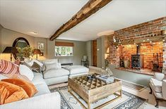 How cosy does this cottage look? We love the way the natural wooden beams work together in harmony with the exposed brick of the fireplace. Our British handmade Hambledon corner sofa is the perfect place to curl up and enjoy a box set, or a movie marathon with the family.  Visit your nearest showroom and shop 15% off everything.  T