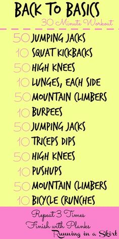 Back to Basics Workout