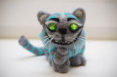 Cheshire Cat #dry #felting