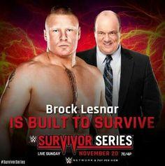 Brock Lesnar with Paul Heyman
