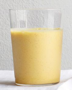 Pineapple and Ginger Smoothie: Ingredients      1 cup fresh or frozen pineapple, cut into 1-inch pieces      1 inch piece fresh ginger, peeled and minced      1/2 cup low-fat plain yogurt      1 cup pineapple juice      1/8 teaspoon ground cinnamon      1/2 cup ice (if using fresh pineapple)  Blend pineapple, ginger, yogurt, pineapple juice, cinnamon, and ice (if using fresh pineapple).