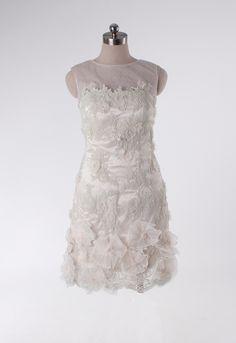 Attractive scoop sleeveless net wedding dress for Tarinee