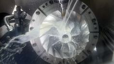 Metalwork. Cnc Metal Working Machine With Cutter Tool During Turbine Aluminium Detail Milling At Factory. Authentic Footage. May Be Little Blurred Stockowy materiał wideo 10567529 - Shutterstock