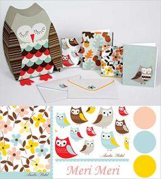 Meri Meri: Owl stationery set. http://www.myowlbarn.com