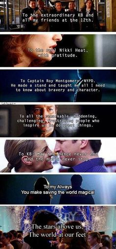 Castle's dedication throughout the years love them <3 <3