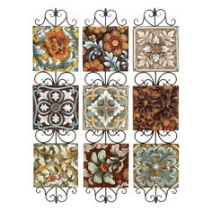 Have to have it. Aspire Home Accents Colorful Floral Wall Decor - Set of 3 - 10W x 44H in. ea. - $119.99 @hayneedle