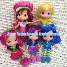 Nuevo estilo STRAWBERRY SHORTCAKE niño chilren chica juguete mejor regalo 15 cm muñeca 1 unids(China (Mainland))