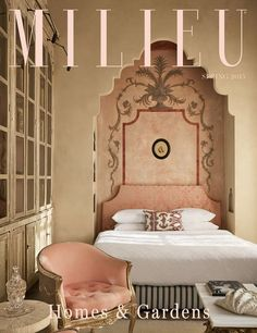 In MILIEU, every story captures the look and feel, the mood and character, the style of a place - its milieu. The milieu that defines a great house or garden, the unique character of a design professional, the message conveyed in a thoughtful essay about home life, the creative strategies for accomplishing the look you want for your home - these are the elements of our magazine. 1920s Bedroom, Parisian Bedroom, Moroccan Inspired Bedroom, Moroccan Interiors, Moroccan Decor, French Interiors, Boudoir, Beautiful Bedrooms, Exotic Bedrooms