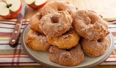 I really don't have much of a sweet tooth but when it comes to Apple Fritters (made the right way) and Butter Tarts (made with the right pas. Delicious Donuts, Delicious Desserts, Dessert Recipes, Yummy Food, Dinner Recipes, No Bake Treats, Yummy Treats, Hanukkah Food, Hanukkah Recipes