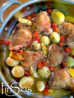 Oh THIS. Delicious! Lemon and Garlic Chicken w/  Chat Potatoes by @FinSkis