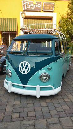 Volkswagen Hippie Bus Art Rainbow Vw Beach Van Camper