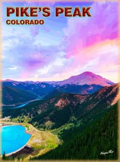 Pike-039-s-Peak-Colorado-United-States-America-Travel-Advertisement-Poster-Print