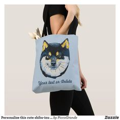 Personalize this cute shiba-inu dog illustrated tote bag Dog Lover Gifts, Dog Gifts, Dog Lovers, I Love Dogs, Cute Dogs, Mouth Mask Fashion, Dog Illustration, Printed Tote Bags, Shiba Inu