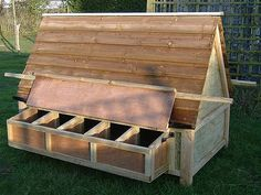 images about DIY  Hen House  amp  Chicken Coop Designs  on     Hen House  Chicken Coop  portable  Exterior Nesting Box    s   http